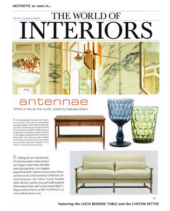Aesthetic - World of Interiors - May 2014